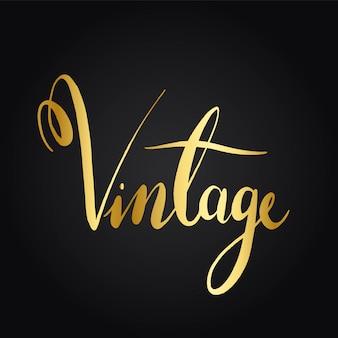 Vintage wording typography style vector