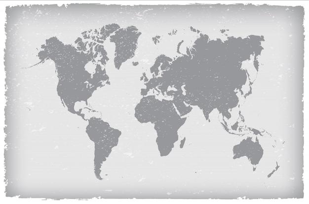 Vintage world map