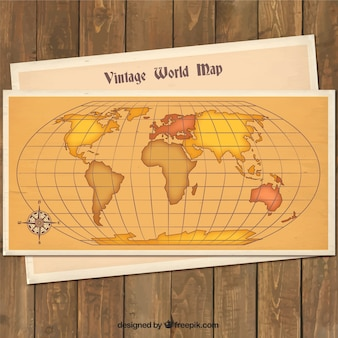 ヴィンテージ世界地図