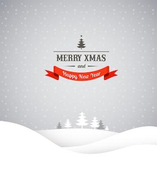 Старинная рождественская открытка и фон