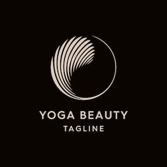 Vintage yin and yang logo template Premium Vector