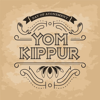 Vintage yom kippur background
