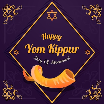 Vintage yom kippur concept
