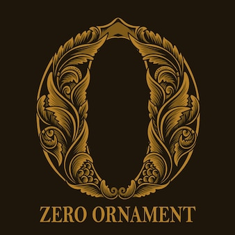 Винтажный стиль орнамента нулевое число