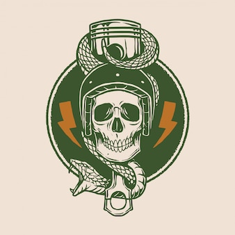 Vintage мотоцикл логотип дизайн