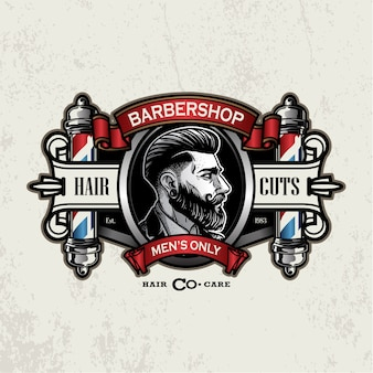 Логотип vintage парикмахерская