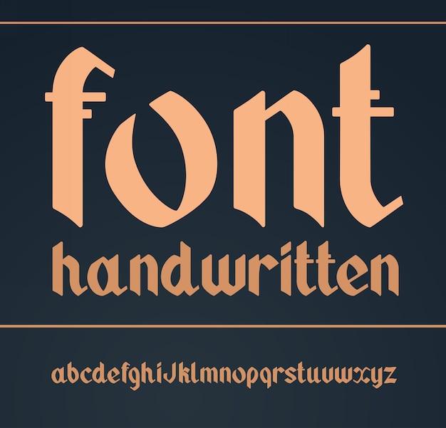 Готический рукописный шрифт vintage