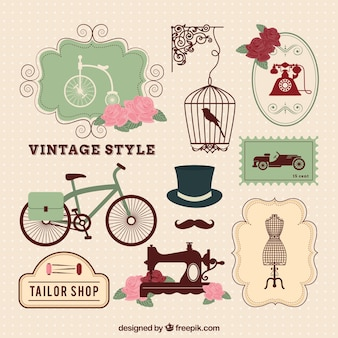 Vintage элементы стиля