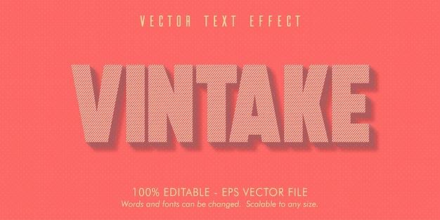 Vintake 텍스트, 이전 스타일 편집 가능한 텍스트 효과