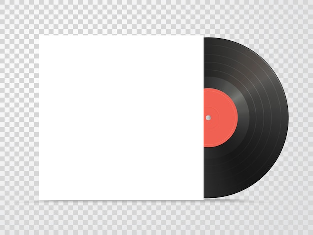 Vinyl and carton cover mockup