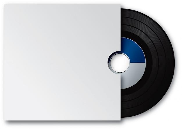 Виниловый диск и белая обложка