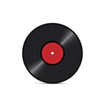Vinyl disk record isolated on white background