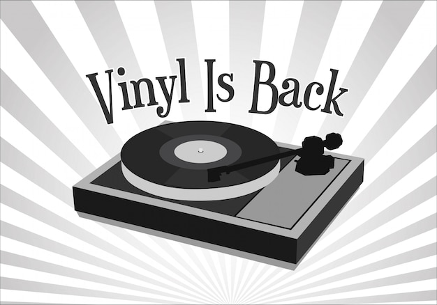 Vinyl is back retro vintage background