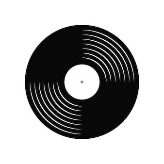 Виниловая пластинка. дизайн ретро аудио диска. винтажный граммофонный диск с макетом крышки. векторная иллюстрация.