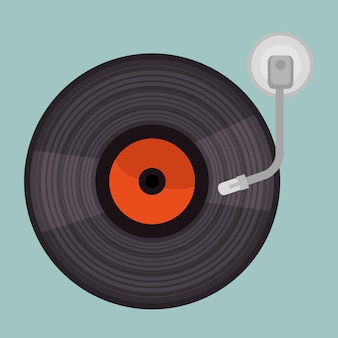 Vinyl player isolated icon design