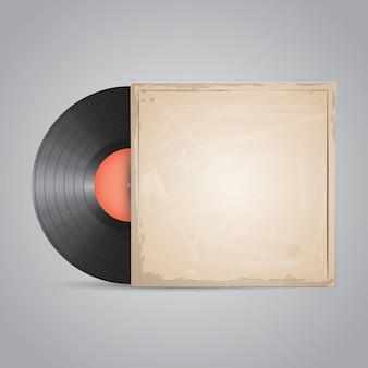 Vinyl record, disc. realistic package design.