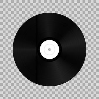Vinyl record disk in paper case box.