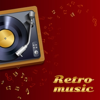 Vinyl record player background