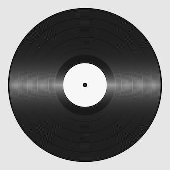 Виниловая пластинка. ретро звуковой носитель. тарелка для dj scratch. векторная иллюстрация.