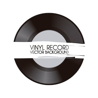 Vinyl record over white background vector illustration