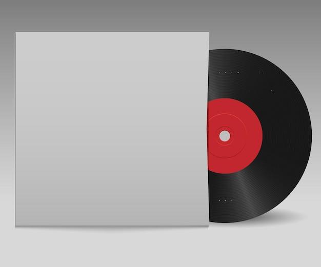 Виниловая пластинка с красной этикеткой и белой обложкой