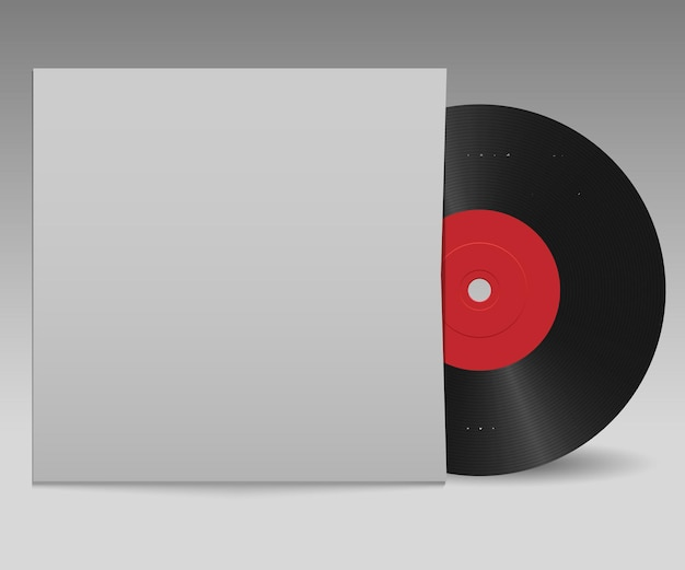 Vinyl record with red label and white cover