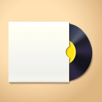 Vinyl record with shadow