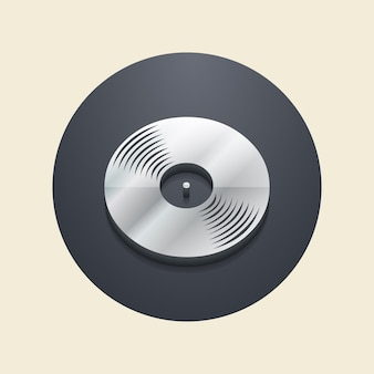 Vinyl records icon illustration, music pattern. creative and luxury cover