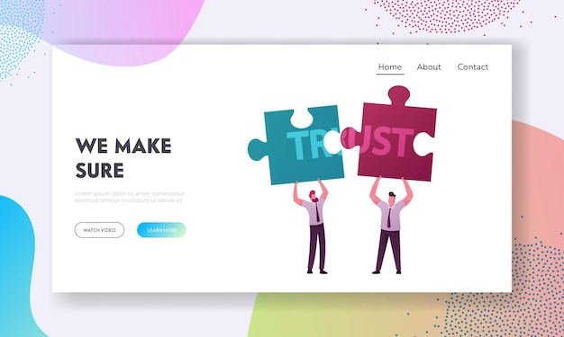 Violation of agreements and promises lose credibility landing page template.