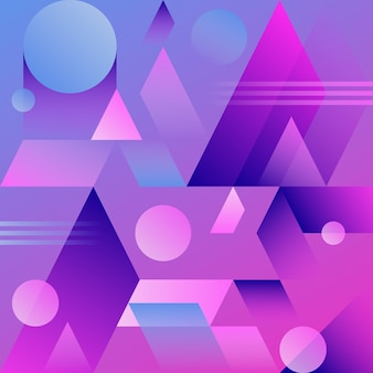 Violet abstract geometric gradient background.