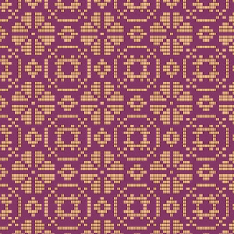 Violet and brown floral songket pattern