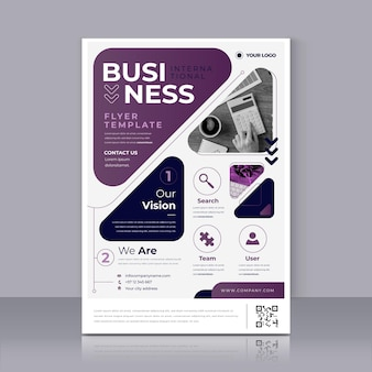 Violet business poster print template