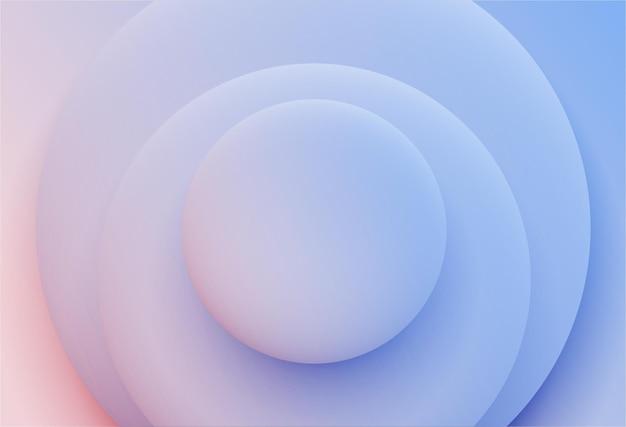 Фиолетовые круги абстрактный фон простая и чистая 3d иллюстрация