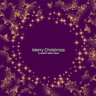 Violet color shiny merry christmas festival background