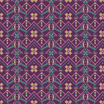 Violet diamond shapes of songket seamless pattern template