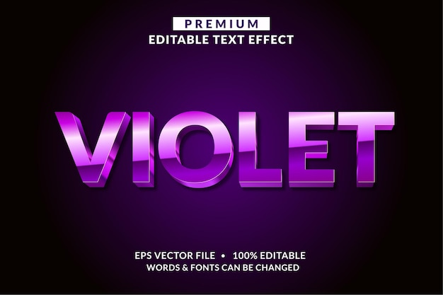 Violet editable text effect font style