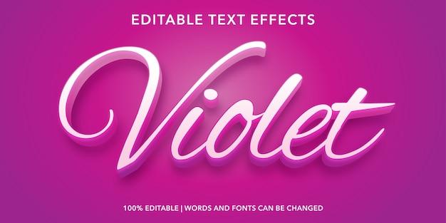 Violet editable text effect