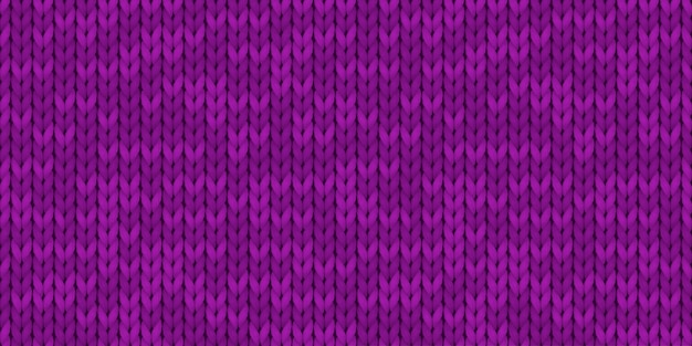 Violet realistic simple knit texture seamless pattern. seamless knitted pattern. woolen cloth. illustration for design, backgrounds, wallpaper. vector illustration.