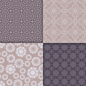 Violet and serenity geometric pattern set