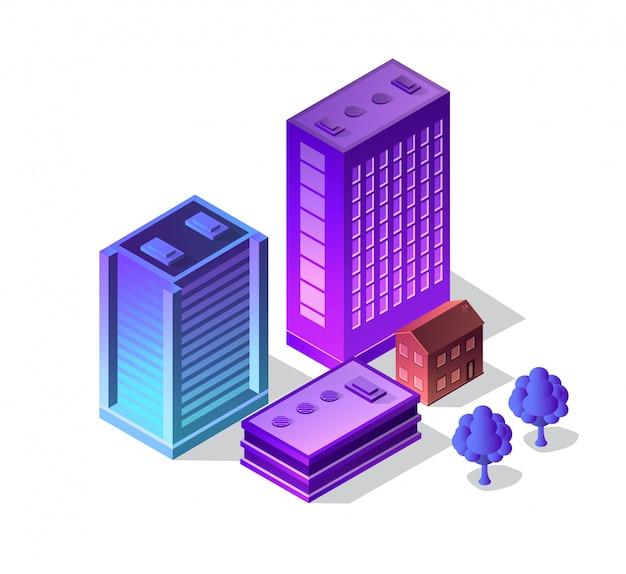 Violet set 3d futuristic