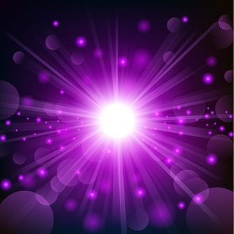 Violet shine with lens flare background