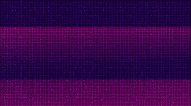 Фиолетовый фон технологии, высокотехнологичный цифровой и сетевой концепции