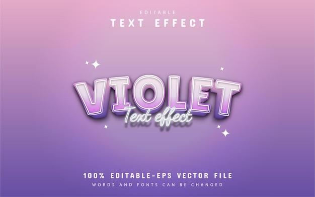 Violet text - editable gradient style text effect
