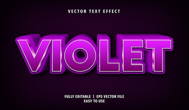 Violet text effect, editable text style