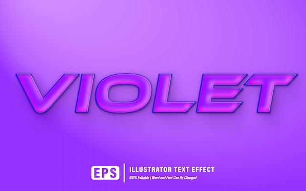 Violet text effect - editable