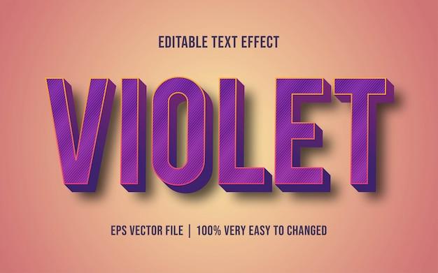 Violet text effect editable