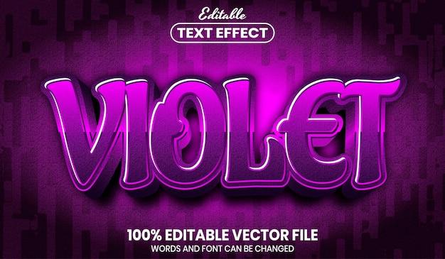 Фиолетовый текст, редактируемый текстовый эффект в стиле шрифта