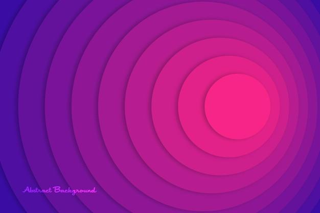분홍색 원 터지는 바이올렛 계층화 된 최소한의 배경 개요