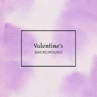 바이올렛 발렌타인 수채화 질감 배경