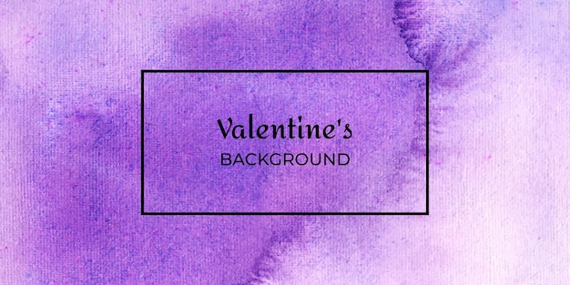 Violet valentine watercolor web banner background collection